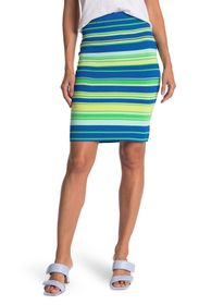 JUICY COUTURE Variegated Stripe Knit Pencil Skirt