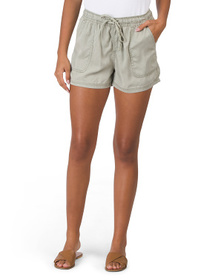 Tencel Pull On Shorts With Porkchop Pockets