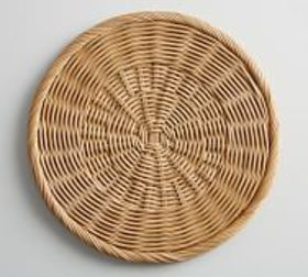 Pottery Barn Willow Wicker Charger Plate - Natural