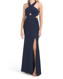 Salome Cross Over Halter Gown