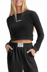 JUICY COUTURE L/S CROPPED MOCK NECK TEE