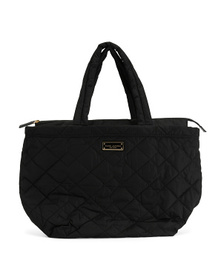 Quilted Nylon Large Tote
