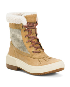 Waterproof Lace Up Boots