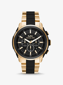 Michael Kors Oversized Kyle Gold-Tone and Silicone