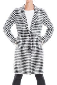 MAX STUDIO Houndstooth Two Button Cardigan Coat