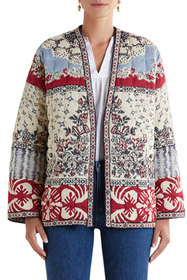 Etro Printed Quilted Cardigan Jacket