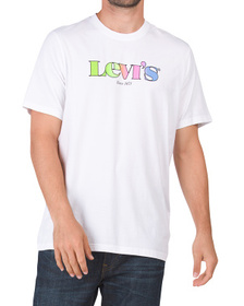 Multi-color Relaxed Fit Logo Tee