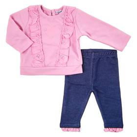 Baby Girl (3-9M) Vitamins 2pc. Heart Top and Pants