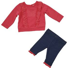 Baby Girl (3-9M) Vitamins Butterfly 2pc. Pants Set