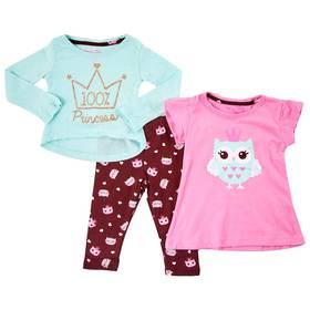 Baby Girl (12-24M) Colette Lilly 3pc. Crown Owl Le
