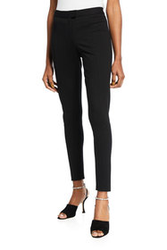 Halston Gail Compact Knit Skinny Ankle Pant
