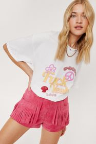 Nasty Gal Fuck Yeah Relaxed Graphic T-Shirt