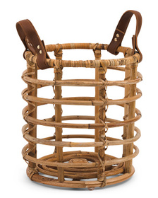 Small Rattan Basket With Handles