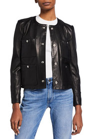 Iro Complet Leather Jacket with Patch Pockets
