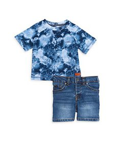 7 For All Mankind - Boys' Tee & Jeans Shorts Set -
