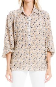 MAX STUDIO Floral 3/4 Sleeve Blouse