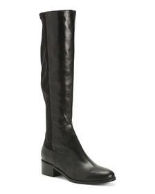 Made In Italy High Shaft Elastic Leather Boots