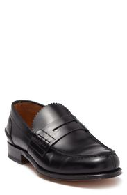 VALENTINO Scallop Leather Penny Loafer