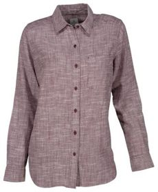 Ascend Chambray Woven Long-Sleeve Shirt for Ladies