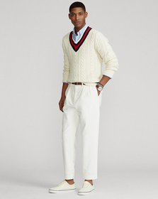 Ralph Lauren Pleated Baggy Fit Stretch Corduroy Pa