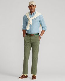 Ralph Lauren Relaxed Fit Chino Buckled-Back Pant