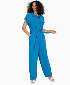 Short-Sleeve Tie Jumpsuit, Created for Macy's