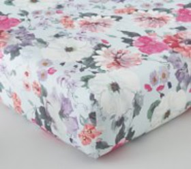 Pottery Barn Isla Floral Organic Crib Fitted Sheet