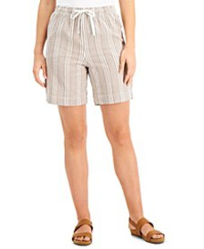 Cotton Seersucker Pull-On Shorts, Created for Macy