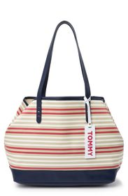 TOMMY HILFIGER Kimberly Striped Tote Bag