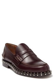 VALENTINO Studded Leather Penny Loafer