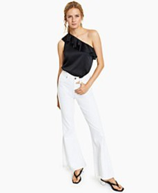 Ruffled One-Shoulder Bodysuit, Created for Macy's
