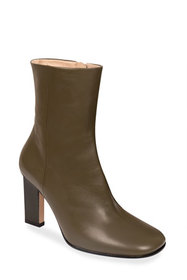 Wandler Carly Leather Zip Booties