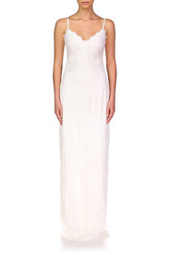 Theia Camila Sequined-Lace Column Gown