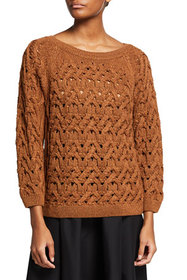 Lafayette 148 New York Bateau-Neck Cabled Sweater