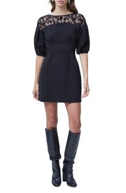 FRENCH CONNECTION Sashi Embroidered Jersey Sheath