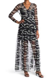 FRENCH CONNECTION Akello Embroidered Zebra Print M