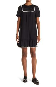 RED VALENTINO Lace Trimmed Dress