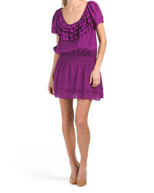 Short Sleeve Dress With Ruffle Detail