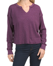Made In Usa Delia Boxy Thermal Top