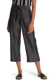 TOMMY BAHAMA All Day Crop Belted Chambray Pants