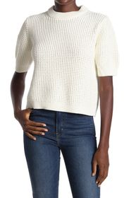 FRENCH CONNECTION Luna Short Sleeve Waffle Knit Sw