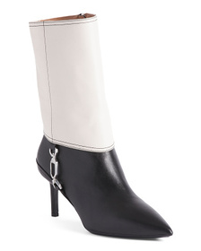 Made In Italy Leather Heel Boots