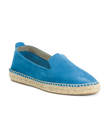 Made In Spain Suede Espadrille Flats