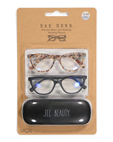 2pk See More Blue Light Readers With Hard Case