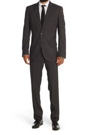 REACTION KENNETH COLE Two Button Notch Lapel Perfo