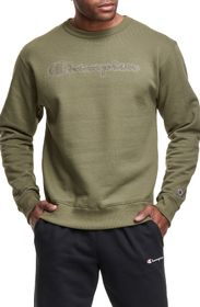 CHAMPION Powerblend Embroidered Logo Pullover Swea