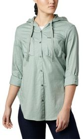 Columbia Anytime Stretch Hooded Long-Sleeve Shirt