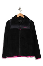 LUCKY BRAND Zip Front Faux Shearling Jacket