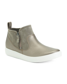 Leather Comfort Mid Sneakers
