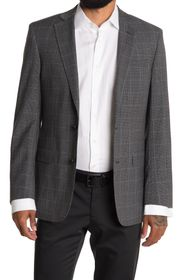 BROOKS BROTHERS Grey Check Two Button Notch Lapel